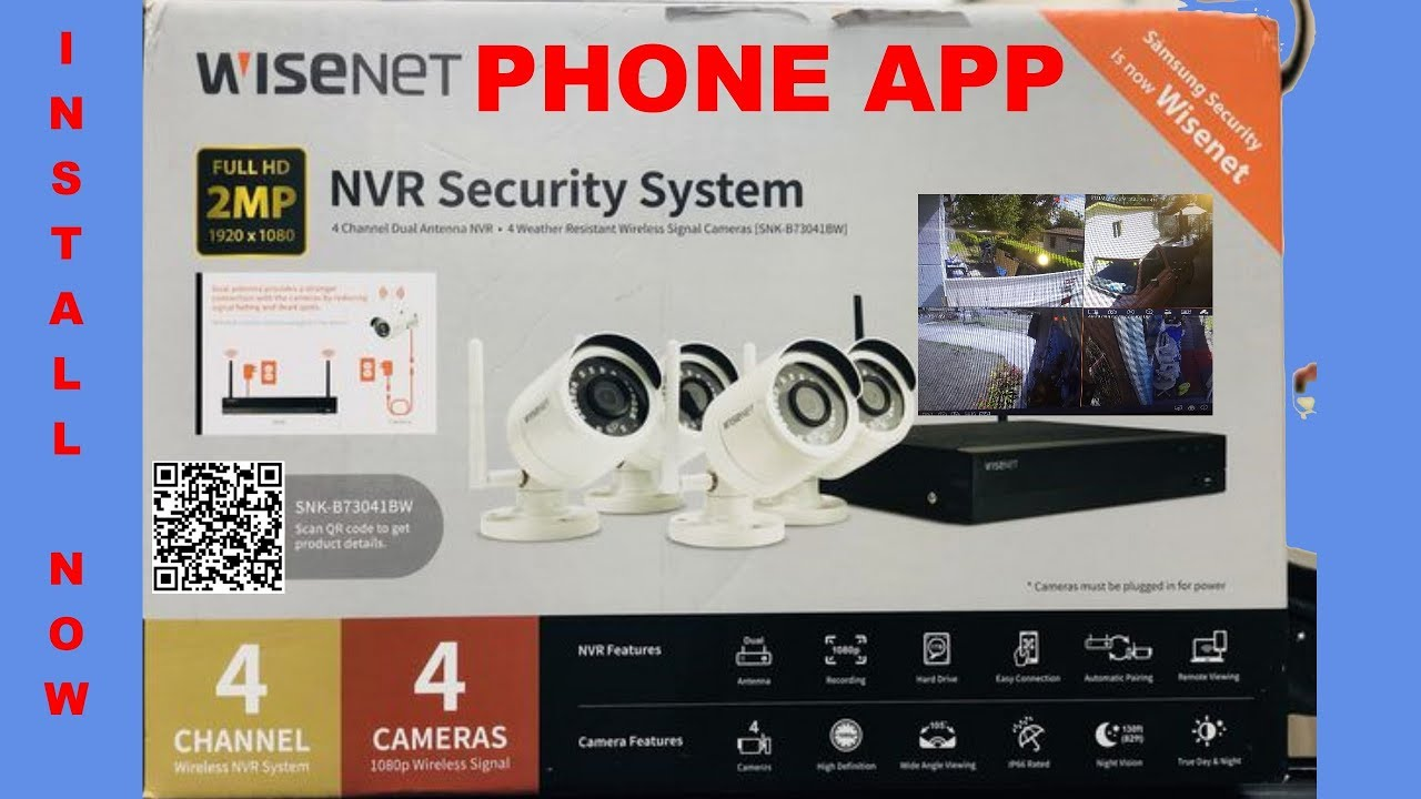 WiseNet NVR Security System Step by Step Instructions INSTALL
