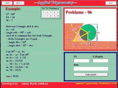Applied Trigonometry Problem Solving Tutorials-5 - YouTube