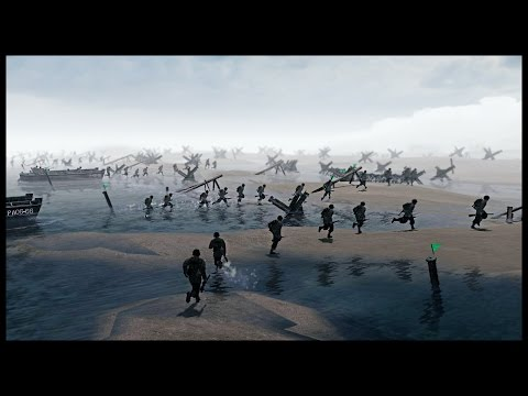 Realistic Omaha Beach Scenario - Normandy Landings on D-Day | Men of War Assault Squad 2 Gameplay