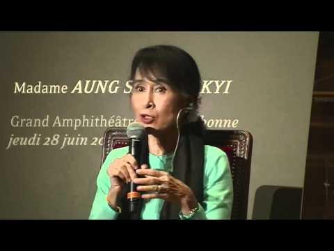 Aung San Suu Kyi à la Sorbonne 28 JUIN 2012