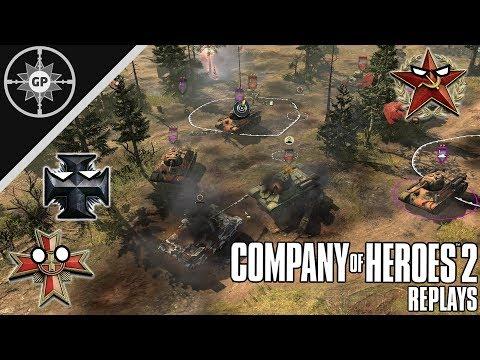 T-34 Swarm Vs. Puma Force - Company Of Heroes 2 Replays #28