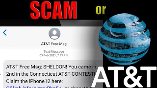 Connecticut AT&T Contest - Text Message Scam Warning