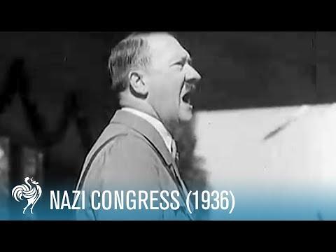Nazi Congress in Nuremberg, Germany (1936)