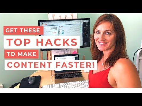 TOP HACKS to Create FASTER Content! thumbnail
