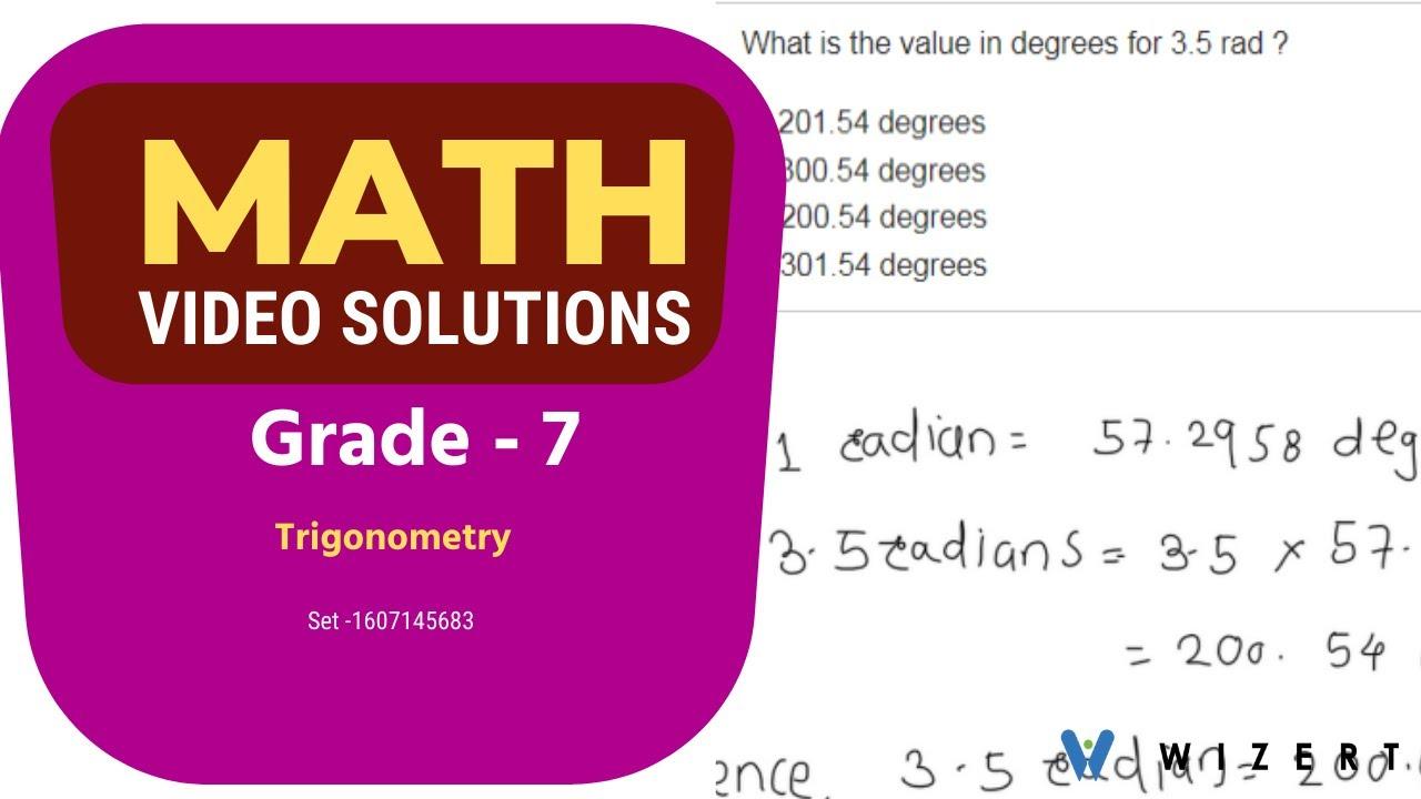 medium resolution of Maths Word Problems for 10th Grade - Grade 10 Trigonometry Word problems -  Set 1607145683 - YouTube