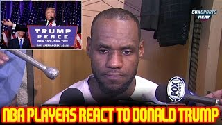 NBA PLAYERS REACT TO DONALD TRUMP WINNING THE ELECTION!