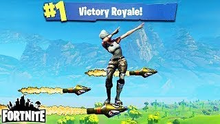 🔥🔴Fortnite Battle Royale PS4 Victory clip Rocket ride out of the arena Gamer in a blazer