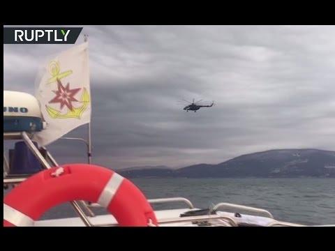 Russian Tu-154 crash: Search & recovery teams work in Black sea (RAW)