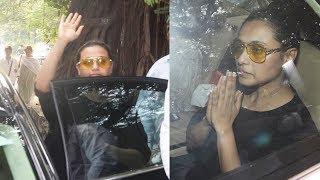 Emotional Rani Mukerji Snapped At Her Father Ram Mukerji's Last Rites