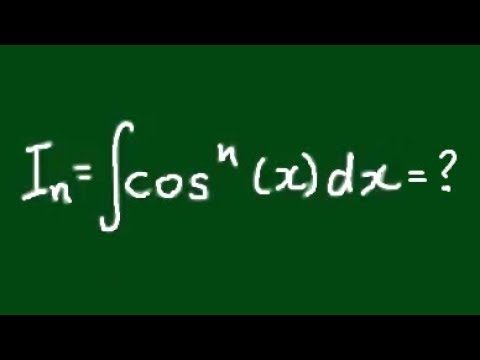 Reduction Formula for Integral of ∫cos^n(x)dx