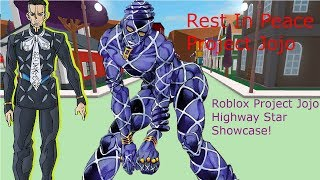 Roblox Project Jojo Highway Star Showcase!