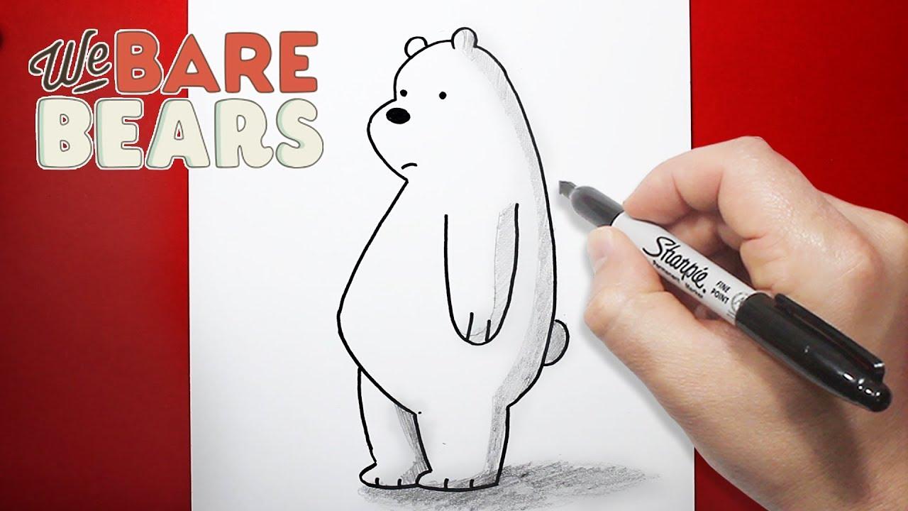 الدببة الثلاثة رسم قطبي بالخطوات تعليم الرسم للاطفال Youtube