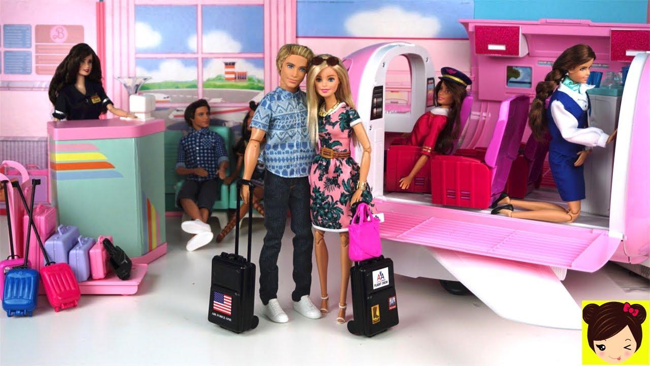 940b1ce80 Barbie y Ken de Vacaciones en El Avion de Lujo de Barbie - Los Juguetes de  Titi