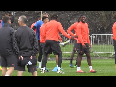 Manchester United Team Training Ahead Of Their Europa League Game Against Zorya Luhansk