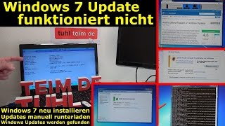Windows 7 Update funktioniert nicht - Win7 neu installieren + Update-Problem lösen - [4K Video]