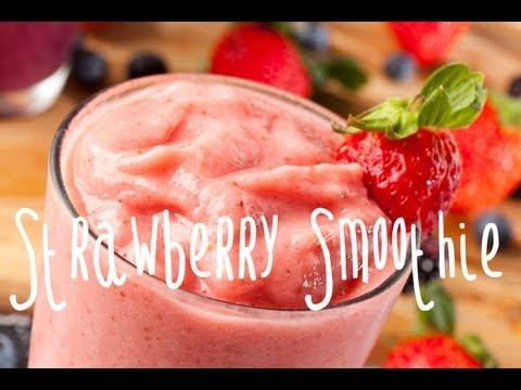 How to make a strawberry banana smoothie
