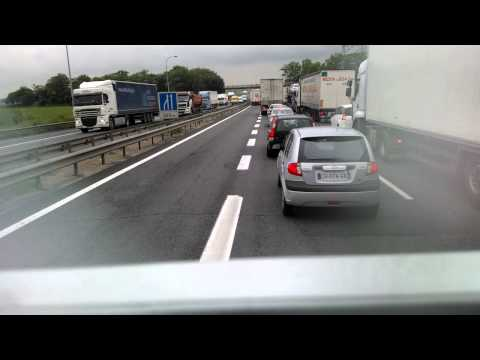 Truck Driving in France (on the road to Paris)