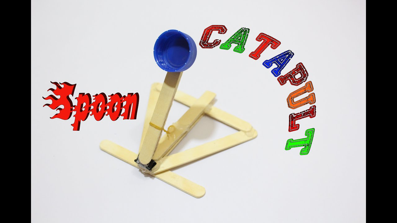 How To Make A Catapult Out Of Popsicle Sticks Youtube