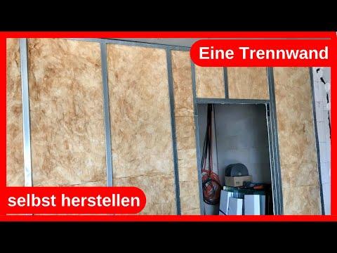 Eine Trennwand / Raumteiler aus Trockenbau selbst herstellen / DIY