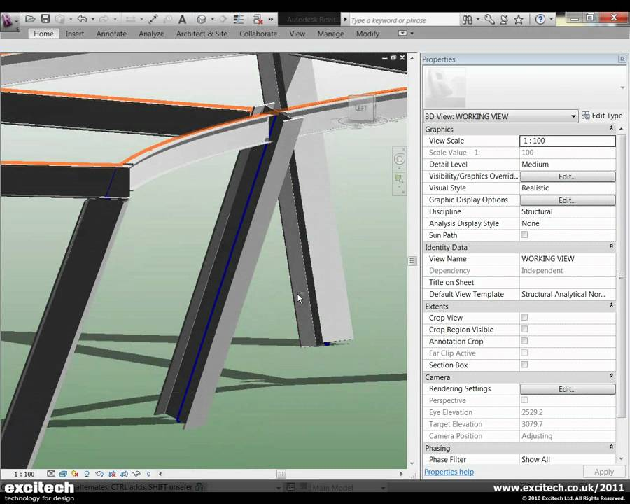 Revit structure 2011 slanted column improvements youtube for V column architecture