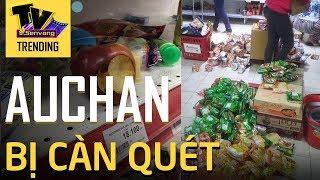 Siêu thị Auchan giảm giá 50%, người dân chen lấn bốc hốt ăn uống đến xấu hổ