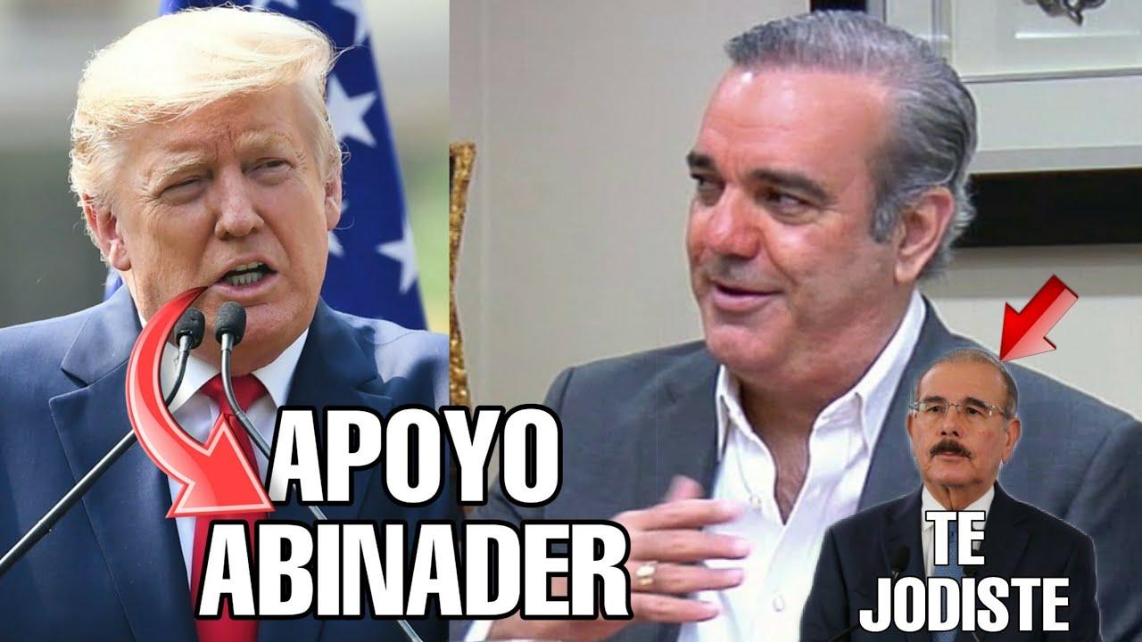 Donald Trump apoyará Abinader acaba con la Corrupción