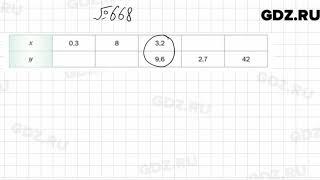 № 668 - Математика 6 класс Мерзляк