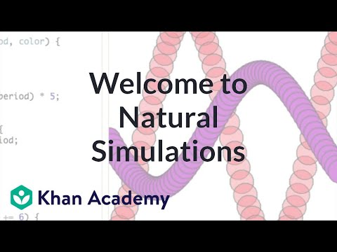 Welcome to Natural Simulations | Computer programming | Khan Academy