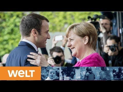 Großbaustelle Europa: Hoffnungsträger Macron trifft die eiserne Kanzlerin Merkel in Berlin