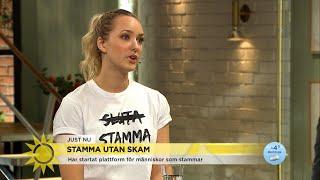 """""""Viktigt att normalisera stamning som ett sätt att prata"""" - Nyhetsmorgon (TV4)"""