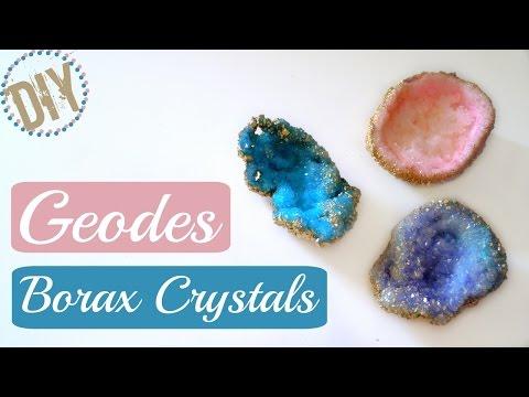 Diy Geode Borax Crystals / Room Decor