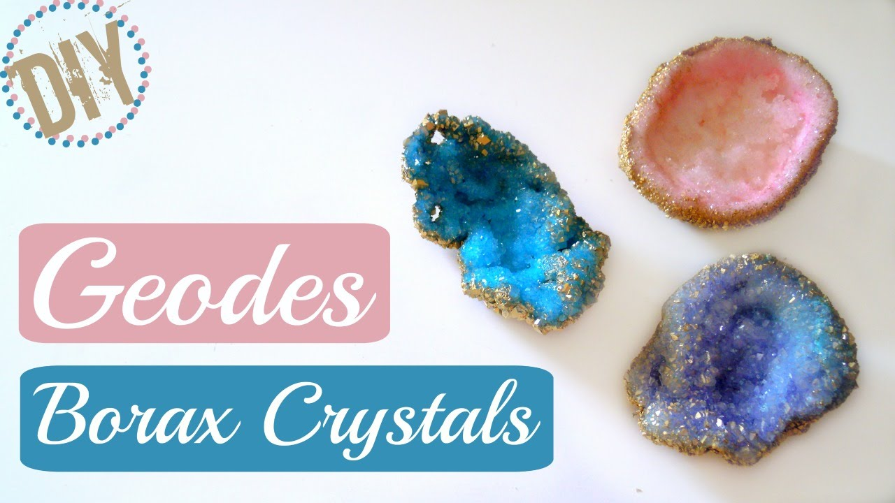 Geode Decor diy geode borax crystals / room decor - youtube