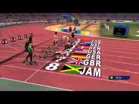 Beijing 2008 Olympic Games100M Gameplay From SEGA