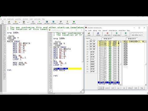 How To Calculate Factorial Number In Assembly Language 8086 - YouTube