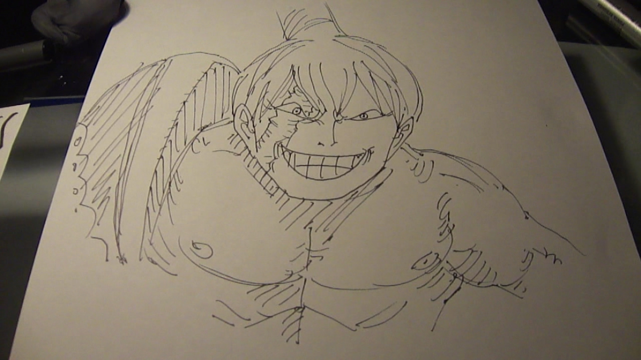 Drawing Commander Cracker One Piece