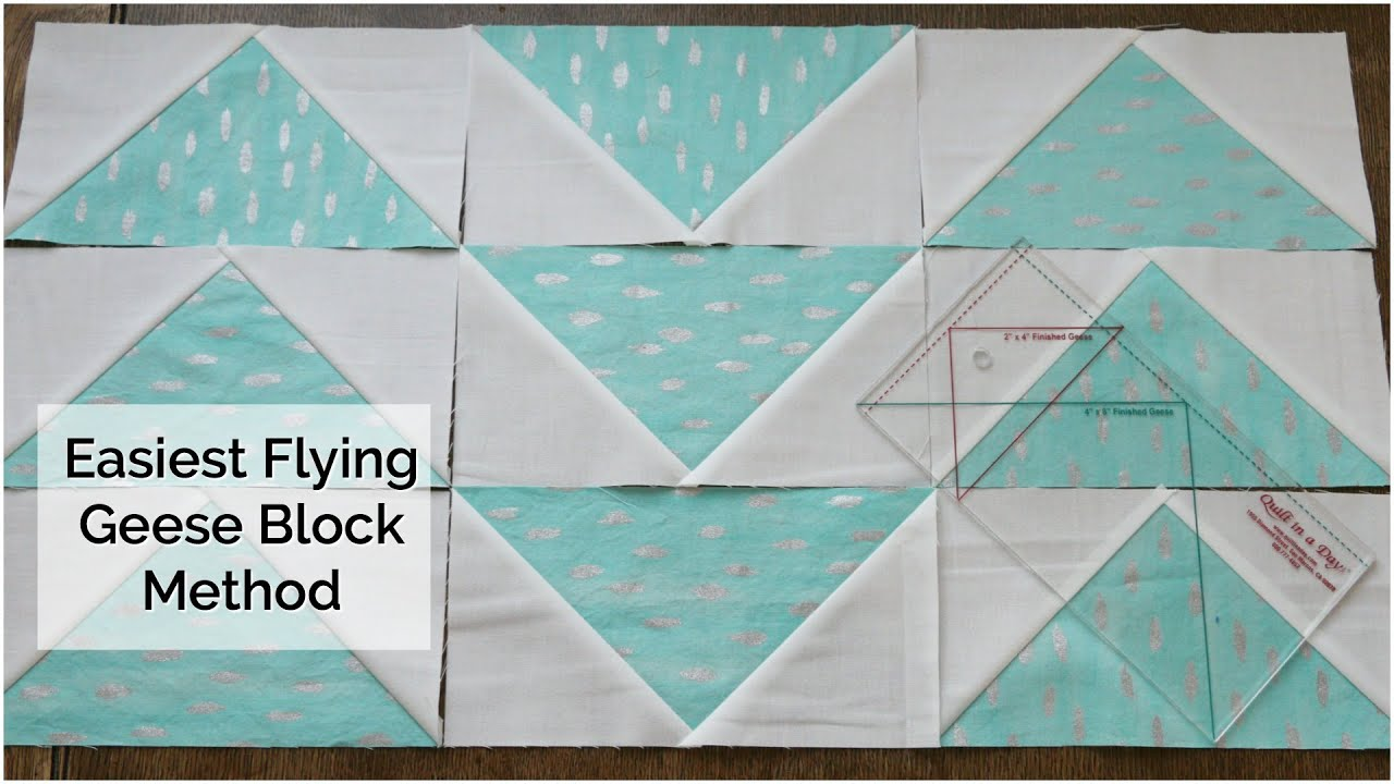 How to Make a Flying Geese Block Using the Quilt in a Day Ruler ... : quilt in a day ruler - Adamdwight.com