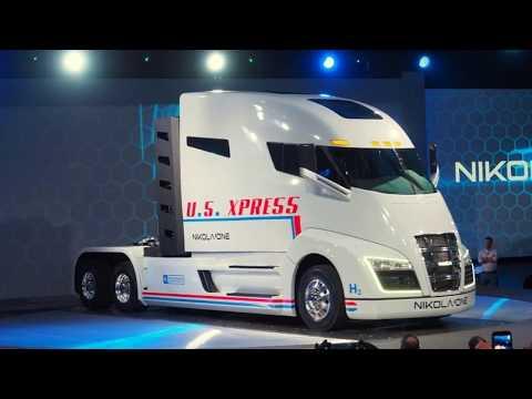 New 2018 Nikola on hydrogen electric long haul truck, spec
