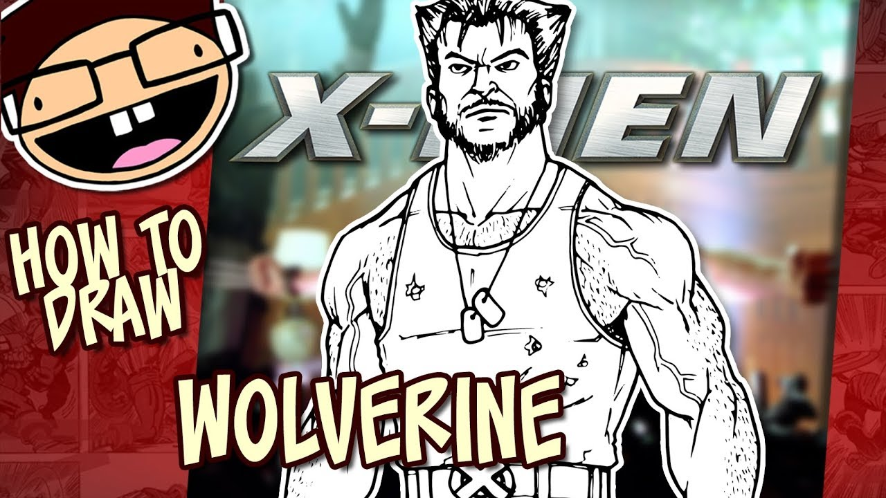 Learn To Draw Wolverine From X Men In 8 Easy Steps Improveyourdrawings Com