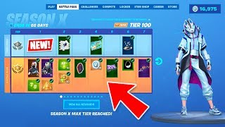 *NEW* SEASON 10 BATTLE PASS SKINS and NEW MAP LIVE GAMEPLAY! (Fortnite Season X New Update)