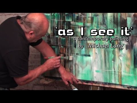 'as I see it'Abstract Art Modern Contemporary Painting Mix Lang How to DEMO