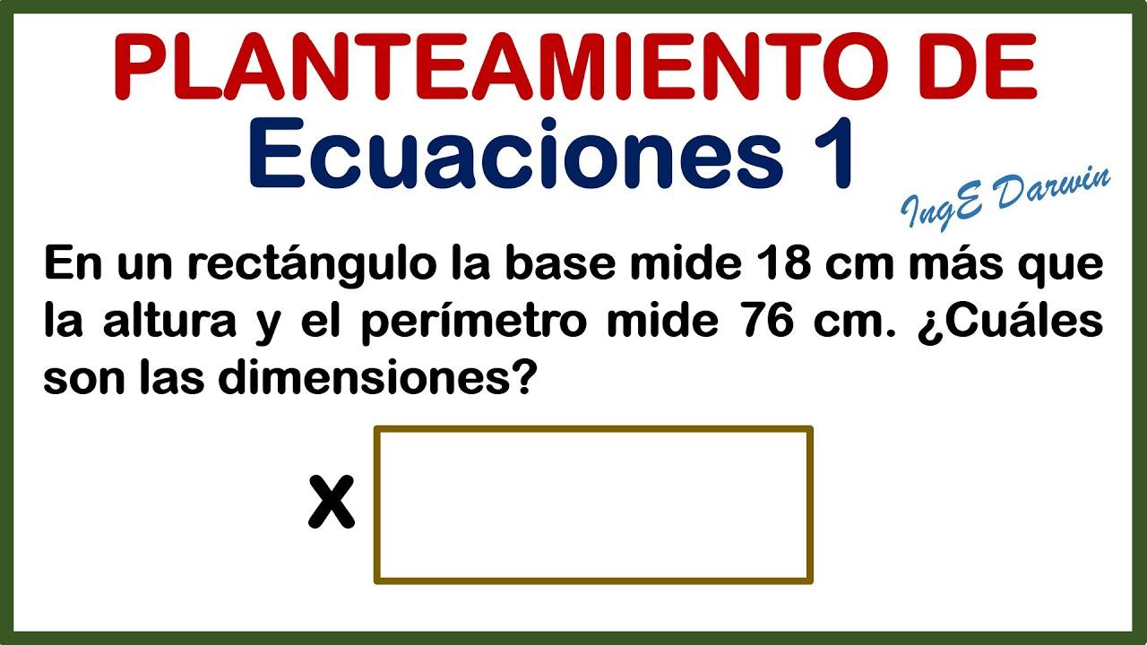 Aprende a plantear ecuaciones de forma sencilla | Ejercicio 1
