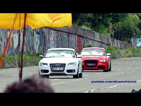 Audi S5 B8 2008 vs Audi S5 B8 2012 by Revo drag race