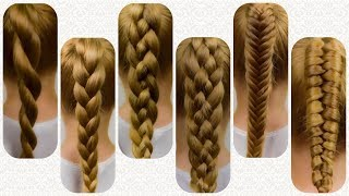 HOW TO BRAID FOR BEGINNERS! TOP SIX BRAIDS! Braid Tutorial #1