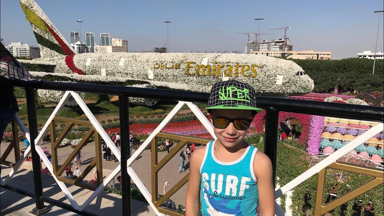 Дубай парк огромный самолёт из цветов,медведь гигант.Dubai Miracle Garden,huge airplane flowers