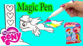 My Little Pony  magine  nk Rainbow Color Pen Art Book with Surprise Pictures Cookieswirlc Video
