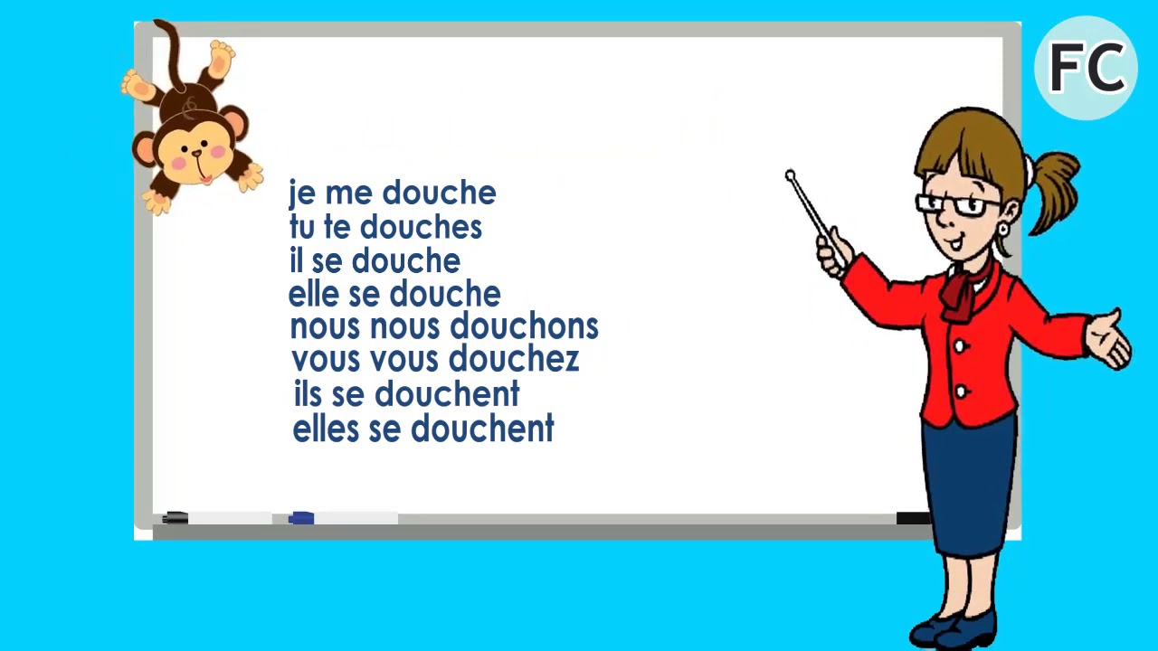 se doucher present french circles