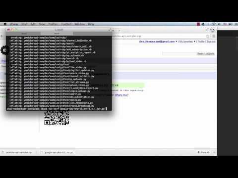 Running the YouTube API PHP code samples