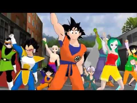 Dragon Ball z Dancing o bailando Thriller Michael jackson