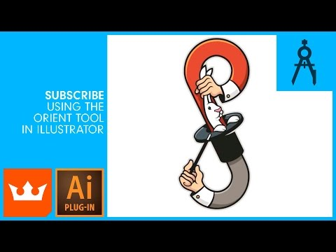 SUBSCRIBE FREE | Using the Orient Tool in Illustrator