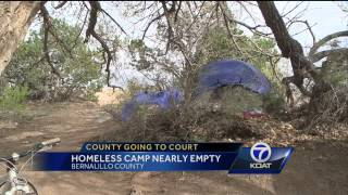 Homeless Camp Nearly Empty